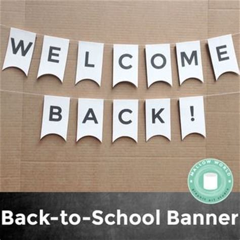 welcome back banner printable template welcome back banner banners and school banners on pinterest