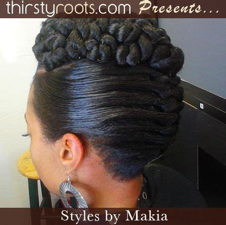 braided french roll for black women african american french roll hairstyle other images in