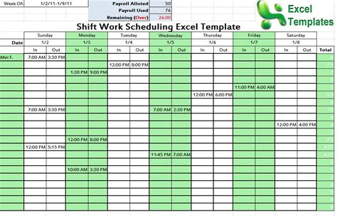 Shift Schedule Template Word Excel 24 Hour 7 Day Work Schedule Template