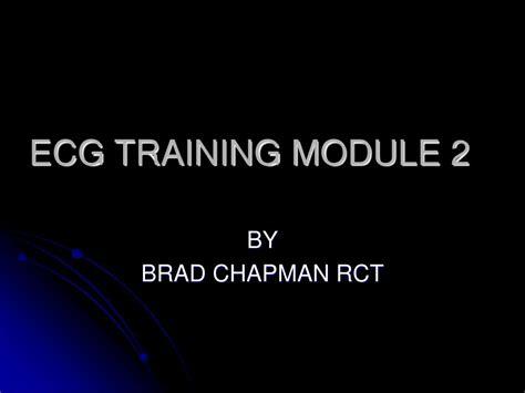 ecg tutorial powerpoint ppt ecg training module 2 powerpoint presentation id