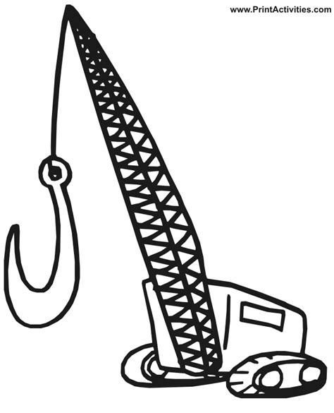 coloring page crane truck big trucks coloring pages az coloring pages