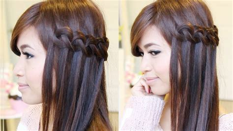 braided hairstyles tutorials youtube braided hairstyles for straight hair knotted loop
