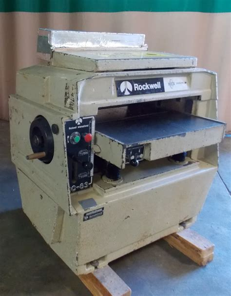 pre owned woodworking machinery used 1981 delta rockwell rc63n planer service