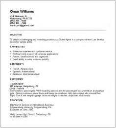 ticket agent resume example free templates collection