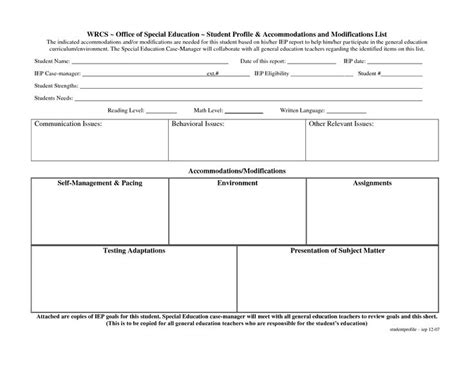 special education templates pin by t summers on sped