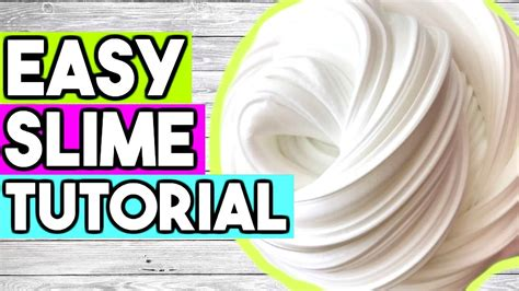 How To Make Simple Easy - how to make slime for beginners best easy way to make