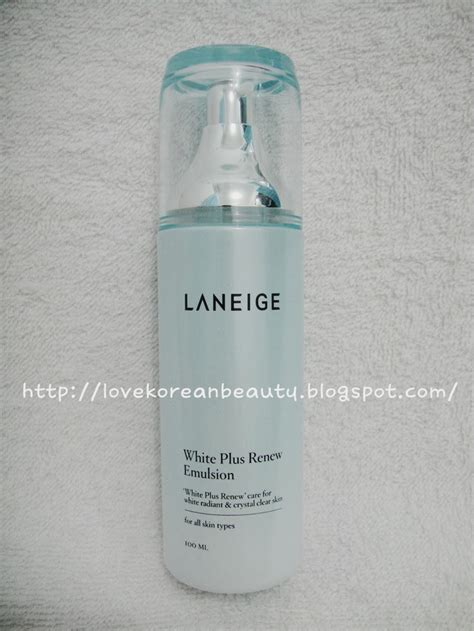 Pelembab Laneige korean review laneige white plus renew emulsion