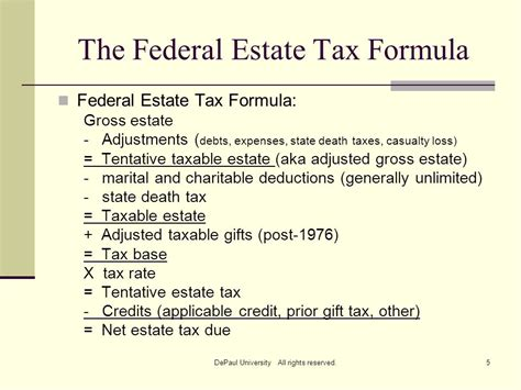 Tax Credit Formula Session 3 Depaul Cfp 174 Program Ppt