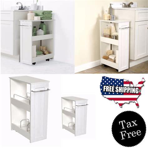 bathroom toilet storage narrow wood floor rolling bathroom toilet storage cabinet holder organizer new ebay