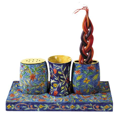 shabbat set yair emanuel combination shabbat and havdalah set with design