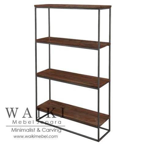 Rak Besi Furniture lemari rak kayu besi rustic metal wood industrial