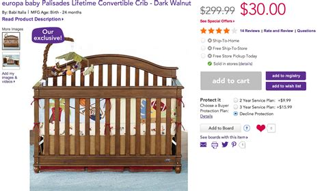 europa baby palisades lifetime convertible crib europa baby palisades lifetime convertible crib