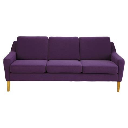 purple 3 seater sofa 3 seater fabric sofa bench in purple mad men maisons du