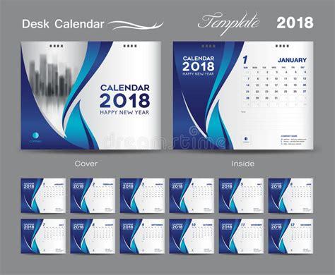 table calendar design layout desk calendar 2018 template layout design blue cover