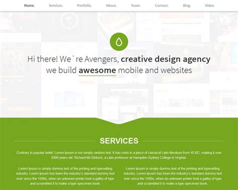 wordpress theme one page layout fresh one page portfolio wordpress theme themeshaker com