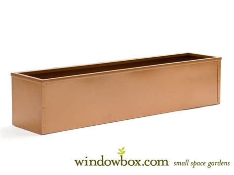 copper window boxes copper tone metal window box liner window box liners