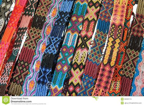 Macrame Belts For Sale At Mexican Craft Market Stock Images   Image: 30093174