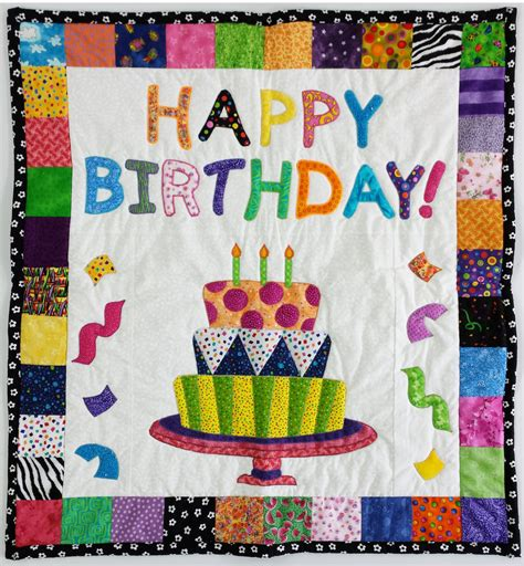 Handmade Wall Hanging For Birthday - quilted happy birthday wall hanging or baby blanket 30 x