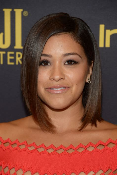 foreign hair styles more pics of gina rodriguez graduated bob 1 of 3 short