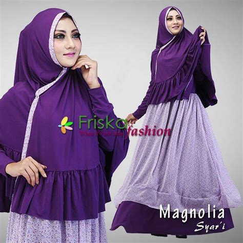 Baju Muslim Magnolia Syari By Friska2 magnolia purple baju muslim gamis modern