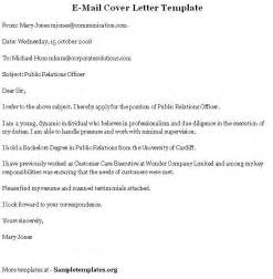 Email Cover Letter Templates by Cover Letter In Template