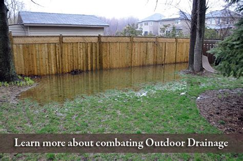 backyard water drainage problems french drain how to build it the right way kg landscape