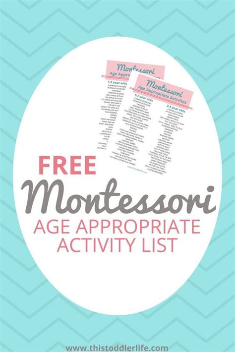 Appropriate Age To Do Mba by Free Age Appropriate Montessori Activity Lists