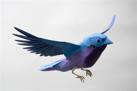 How To Make 3d Paper Birds - 13 best photos of 3d paper bird template paper bird