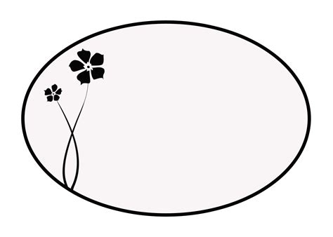 template for oval shape oval template clipart clipart best