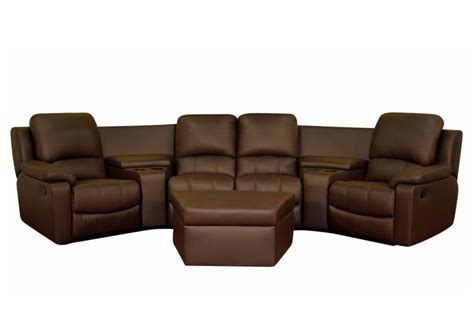 home theatre sofa broadway home theater seating sectional brown stargate