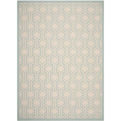 Safavieh Courtyard Beige Aqua 8 Ft X 11 Ft Indoor Aqua Outdoor Rug