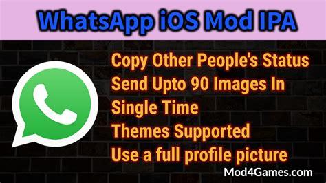 whatsapp themes jailbreak whatsapp ios mod ipa copy others status send upto 90
