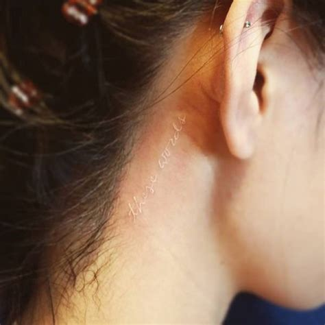pen tattoo on ear 101 small tattoos for girls that will stay beautiful