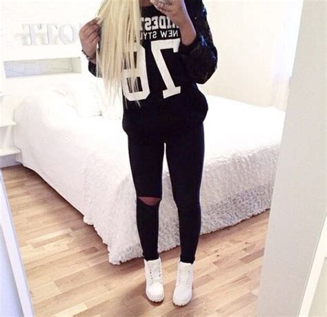 outfits for bedroom bedroom black black and white blonde cute fashion