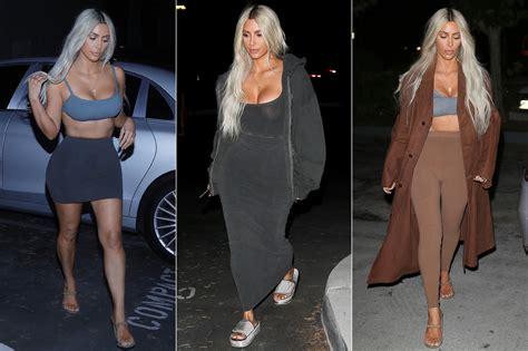 kim kardashian yeezy halloween costume kim kardashian wore 9 yeezy outfits in one day people