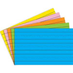 Floor N More by Brite Asst 5x8 75ct Primary Ruled Index Cards Top3644