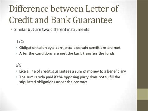 Letter Of Credit Or Bank Guarantee trade finance instruments