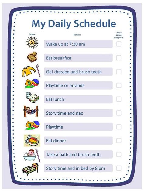 best 25 daily schedule template ideas on pinterest