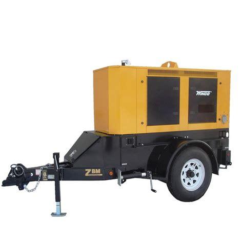 mobile generator winco generators rp25 mobile diesel power systems 20 000