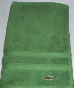 lacoste bath towels lacoste green bath towel 30 quot x 59 quot nwot ebay