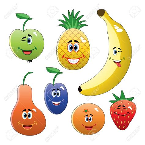 clipart frutta fruit and vegetable characters clipart 79