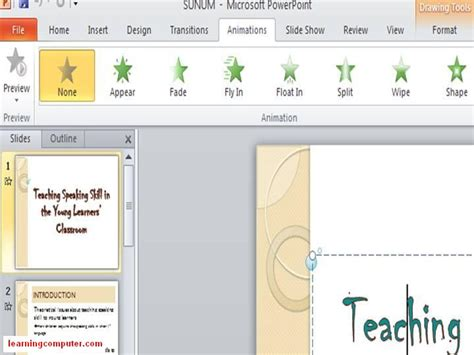 animation layout fade in what is powerpoint learn ms powerpoint 2010 tutorial