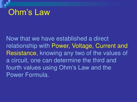 power and resistance relationship ppt ohms powerpoint presentation id 4890755