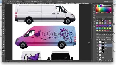How To Make A Commercial Cargo Van Car Wrap Mockup Tutorial Using Adobe Photoshop Youtube Wrap Design Template