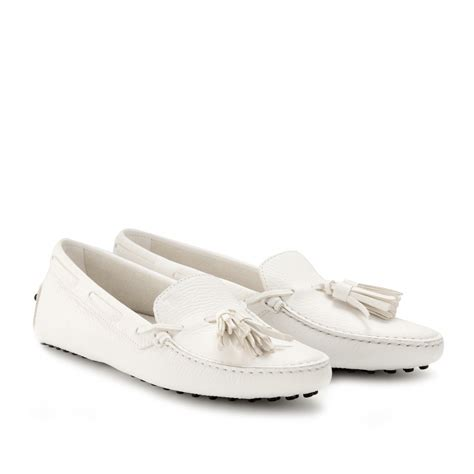 loafers with tassel tod s new gommini loafers with tassel in white lyst