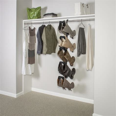 Closet Hanging Rack by Boot Butler Boot Rack Hanging From Standard Hang