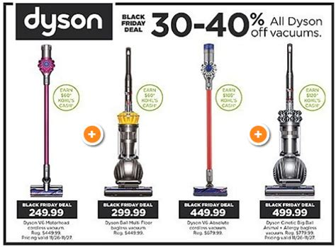 Kohl S Black Friday Dyson Vacuum Deals As Low As 179 99