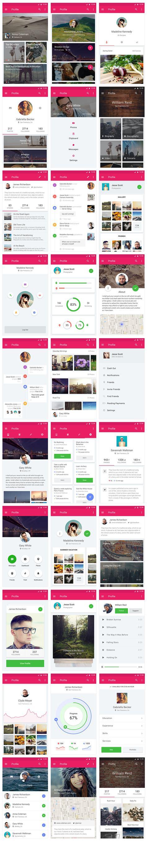 design app book material design ui kit on behance