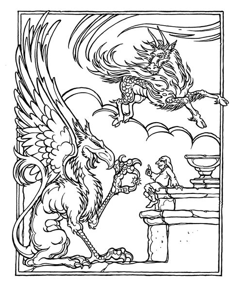 advanced coloring pages of dragons monster brains the official advanced dungeons and dragons