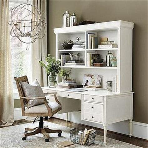 white office desk with hutch storage desk small hutch pottery barn